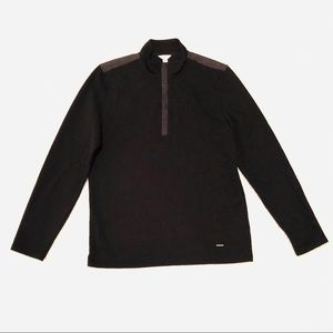 Men's Calvin Klein 1/4 zip black pull over